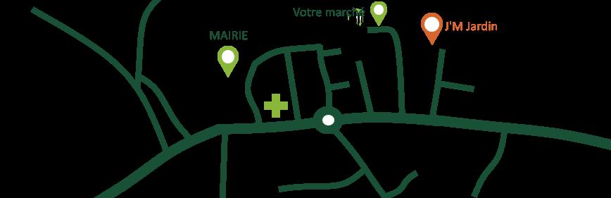 map où se trouve le local de l'entreprise : Rue des Vallons de l'Erdre, 44440 Joué-sur-Erdre